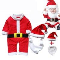 Christmas Gift Hot Baby Rompers Snowman Elk Santa Claus Cothes Children Romper 2017 Newborn Boys Girls