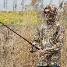 Новая весенняя осень Bionic с длинными рукавами Футболка Камуфляжная одежда Охота Одежда для рыбалки Одежда Wild Fleece Thermal Windproof