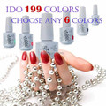 IDO 15ml Gel Polish 302 Colors Any 6 Colors +1 Base Coat + 1 Top Coat UV Gel Nail Polish Led Lamp