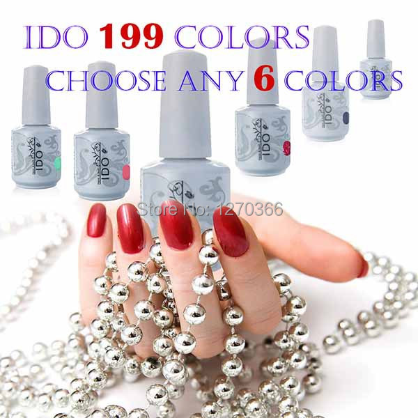 IDO 15ml Gel Polish 302 Colors Any 6 Colors +1 Base Coat + 1 Top Coat UV Gel Nail Polish Led Lamp