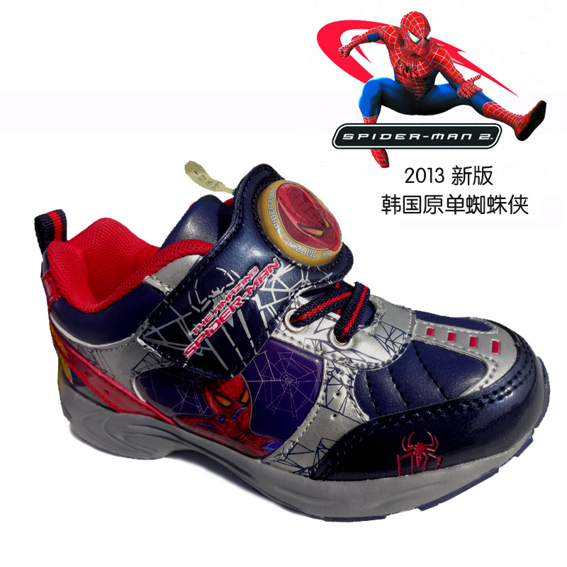 Free Shipping Boy 39 S Sneakers Children Shoes Boy 39 S Fashion Shoes 2013 Spiderman Kids Sneakers