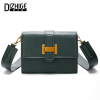 DIZHIGE Brand PU Leather Shoulder Bag Designer Small Messenger Bags For Ladies Patchwork High Quality Crossbody