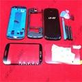 Черный Замена Телефон Случае Замена Полный Крышку Корпуса Чехол + Стеклянный Экран Объектив + Дверь Задняя Крышка Батареи Для Samsung S3 I9300
