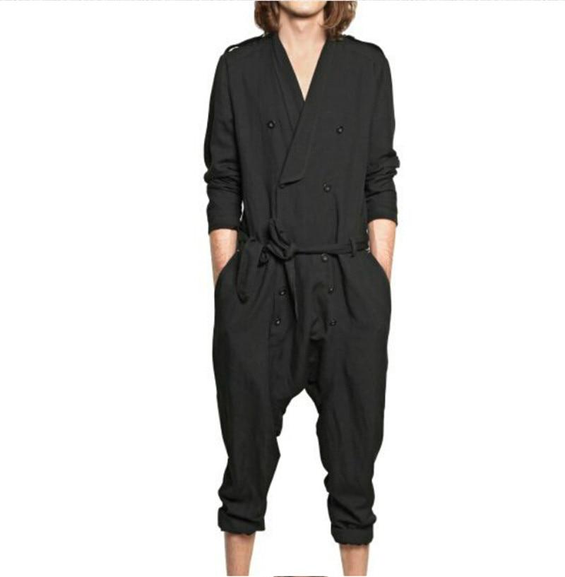 2015 Newest Fashion Male Jumpsuit Cool Men s Pants Siamese Trousers Harem Loose Design Jumpsuit Plus