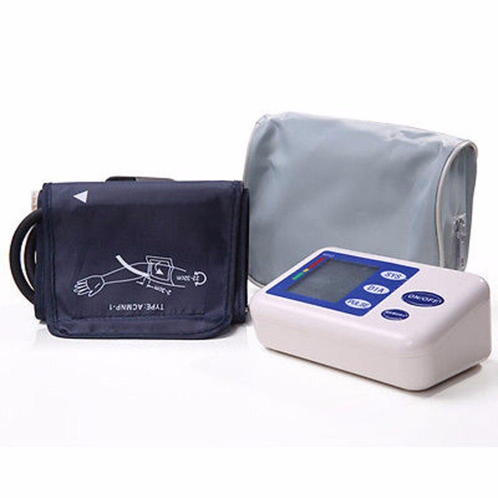 2017 New 1 Set Health Care Digital Automatic Upper Arm Blood Pressure Monitor With Adaptor Monitors Sphygmomanometer Meter jziki voice digital pulse arm bp blood pressure monitors meters tonometer pulsometro sphygmomanometer cuff health care monitors