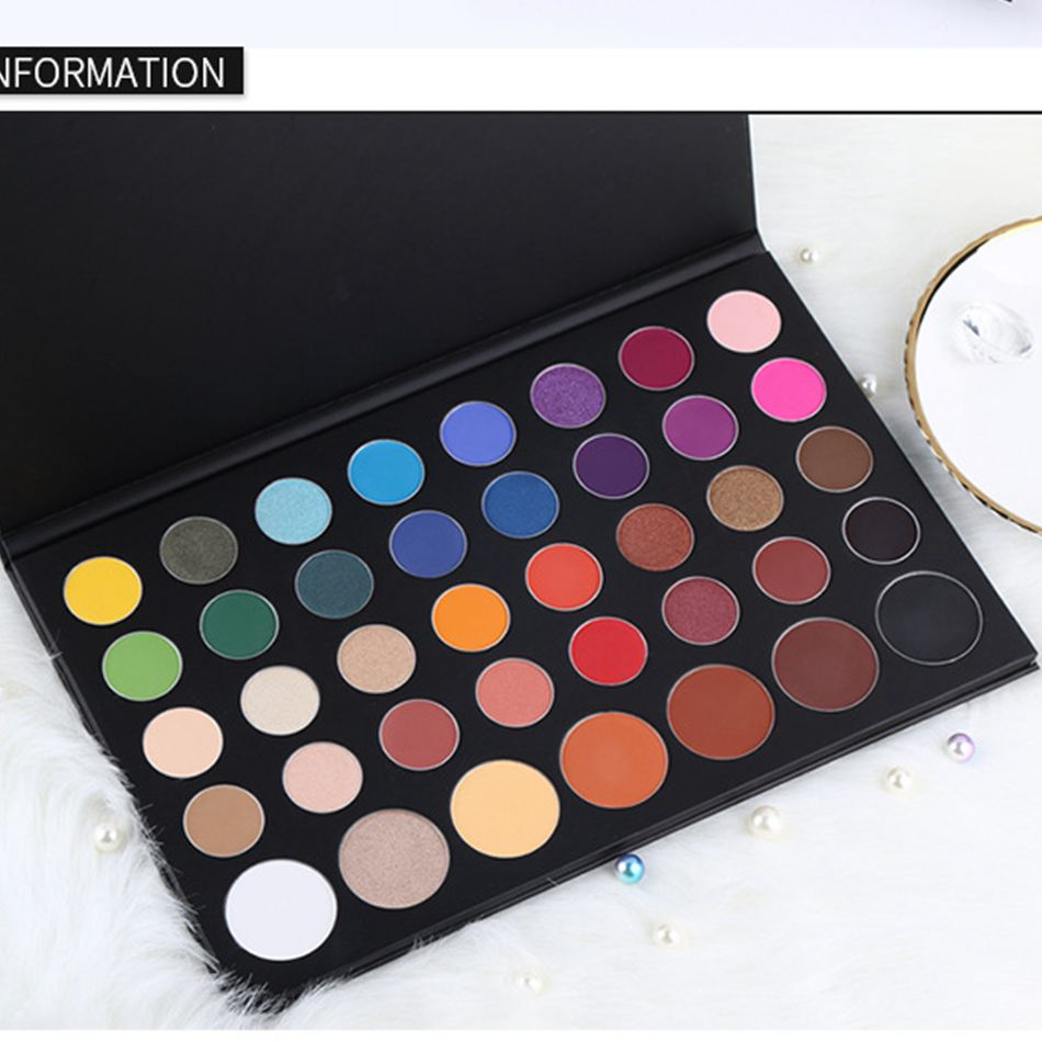 Glitter Matte Eyeshadow Makeup Powder 39 Color Paleta Ruby Rose Pigments Waterproof Professional Shimmer Makeup Studio Eyeshadow in Eye Shadow from Beauty Health
