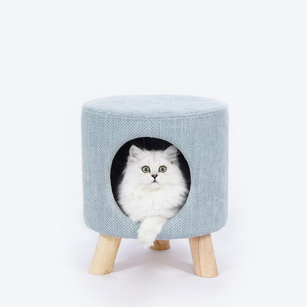 Creative cat nest house villa semi enclosed into kitten nest stool nest pet supplies cat tree house cats products for pets