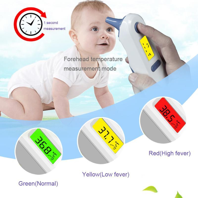 Bmc Thermometer Heißer Verkauf Termometro Digital Infrarot Lcd Baby Stirn Und Ohr Termometr Infrarot Körper Pflege Fieber Messung Thermometer