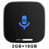 Network TV set top box player tv os voice remote control android 7.1 5G wifi smart box 2GB 16 s912 octa core 4k HD bluetooth