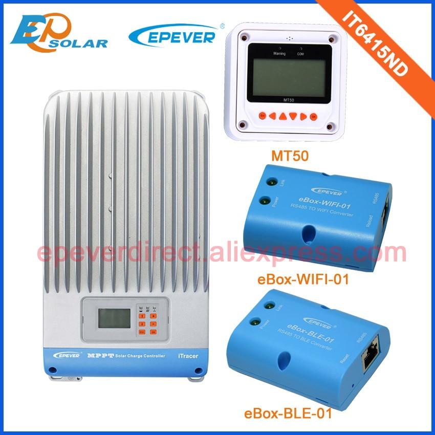 Солнечных панелей батареи зарядное устройство mppt 60A IT6415ND с белым MT50 дистанционного метр и Wi Fi BLE Box Max PV Вход 150 В
