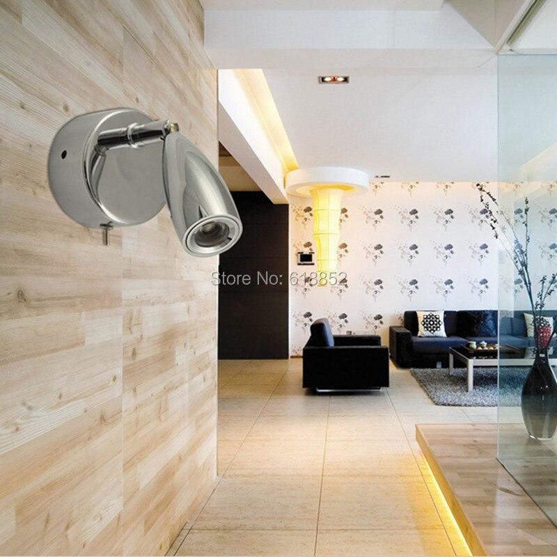 Lampka zagłówka łóżka Topoch LED 3W z wyłącznikiem On Flush - Oświetlenie wewnętrzne - Zdjęcie 3