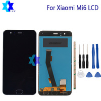 For Xiaomi Mi6 LCD NO Fingerprint Sensor Display Touch Screen Panel Digital Replacement Parts Assembly Original
