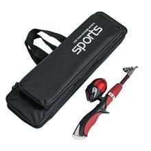 Outdoor Fishing Bag Double Layer Folding Rod Case 80cm Portability Gear Storage Black Waterproof Portable