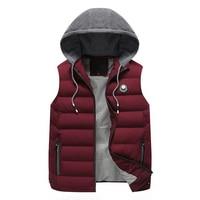 2018 New Stylish Autumn Winter Vest Men High Quality Hood Warm Sleeveless Jacket Waistcoat Men Plus