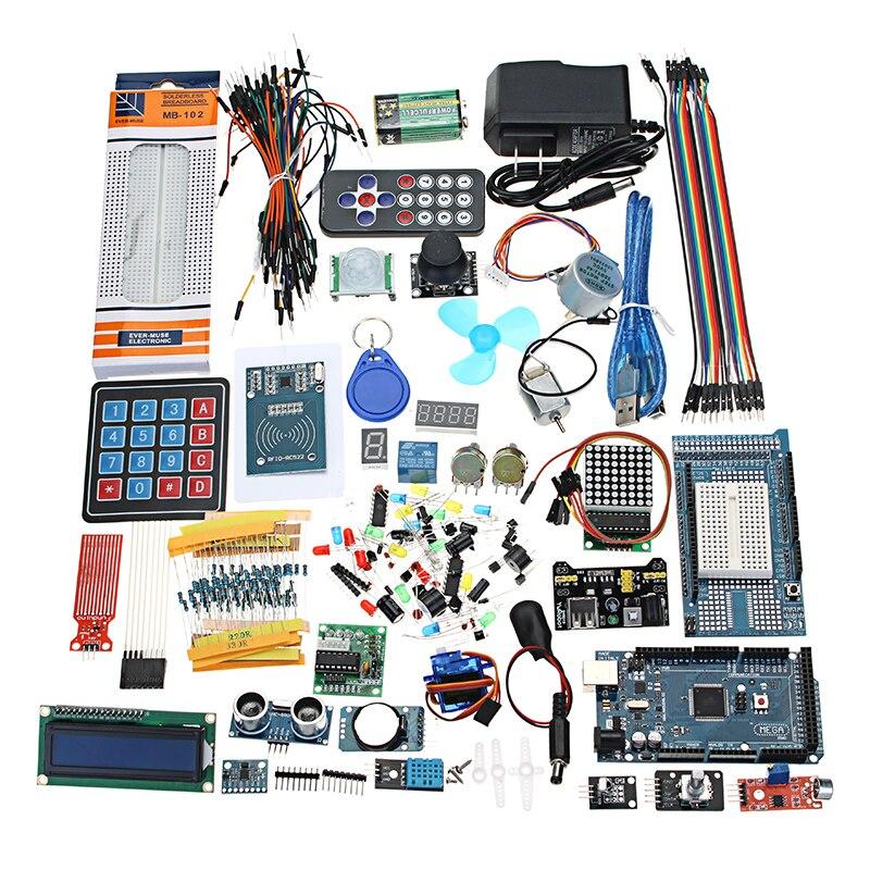 Mega 2560 le Kit de démarrage le plus complet pour Arduino Mega2560 UNO Module avec boîte