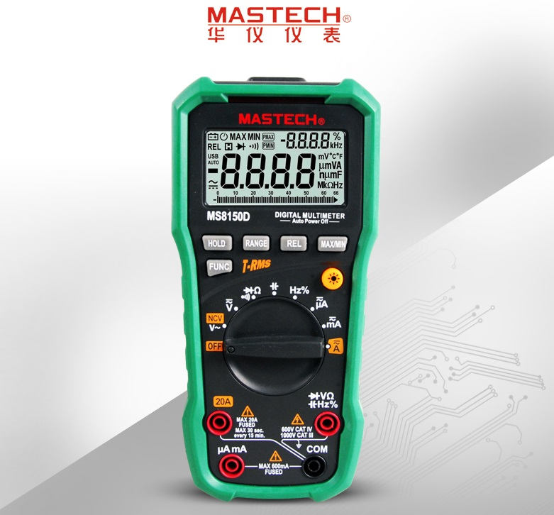 Mastech MS8150A MS8150B MS8150D Digital 4000 counts Auto Range Multimeter Voltage Current Resistance Tecrep Tester mastech ms8260f 4000 counts auto range megohmmeter dmm frequency capacitor w ncv