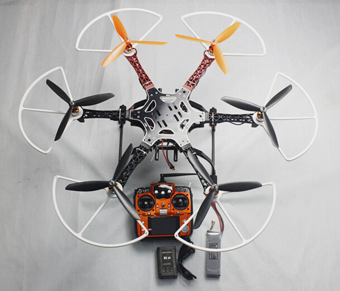 F05114-AL Assembled F550 550 mm Hexa-Rotor Air Frame Kit RTF with AT10 10CH Remote Control Prop Guard Protector Battery Charger assembled cdrom controller kit with display remote control 0508 4