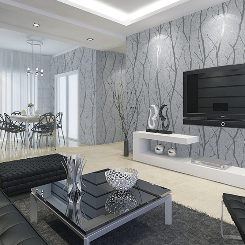 Tree Forest Deerskin Line Papel De Parede 3D Flocking Wallpaper for Bedroom Living Room Home Decoration Wall Paper Roll Palace beibehang printing papel de parede 3d wallpaper roll papel pintado floral rolls flocking living room bedroom sofa tv wall paper