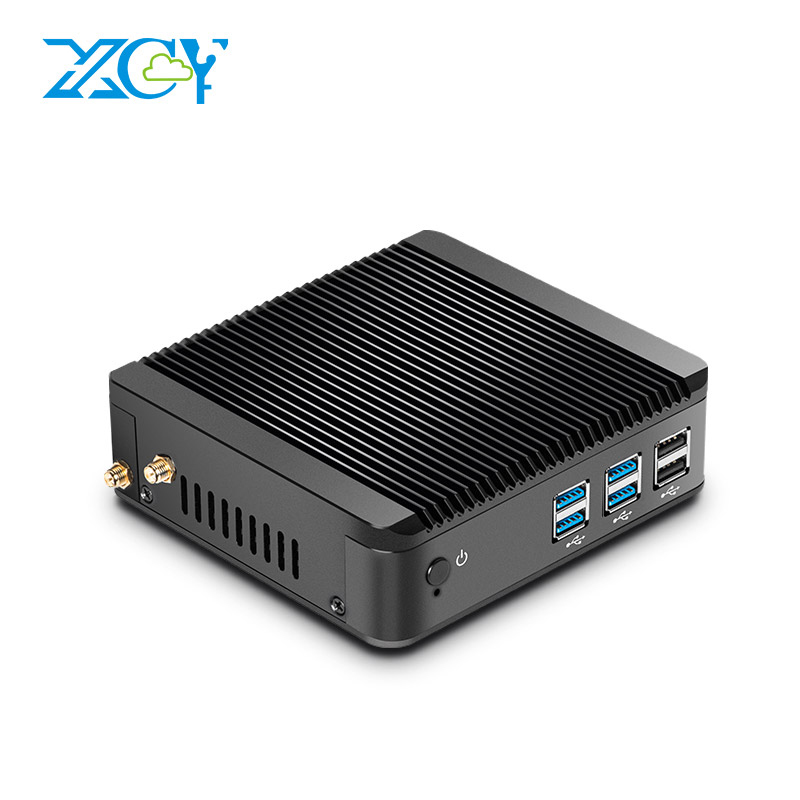 XCY Fanless Mini PC Intel Celeron 3215U 4GB 60GB HTPC HDMI VGA Dual Display Nettop PC Thin Client 300M WiFi Windows 10 Linux thin client mini itx computer intel celeron n3150 14nm quad core dual hdmi vga 1 rs232 4 usb3 0 300m wifi window 10 mini pc