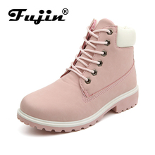 Fujin 2018 SPRING Winter plush Warm Women winter boots shoes Wedge Casual Shoes Outdoor Waterproof Height Increasing Snow Boots