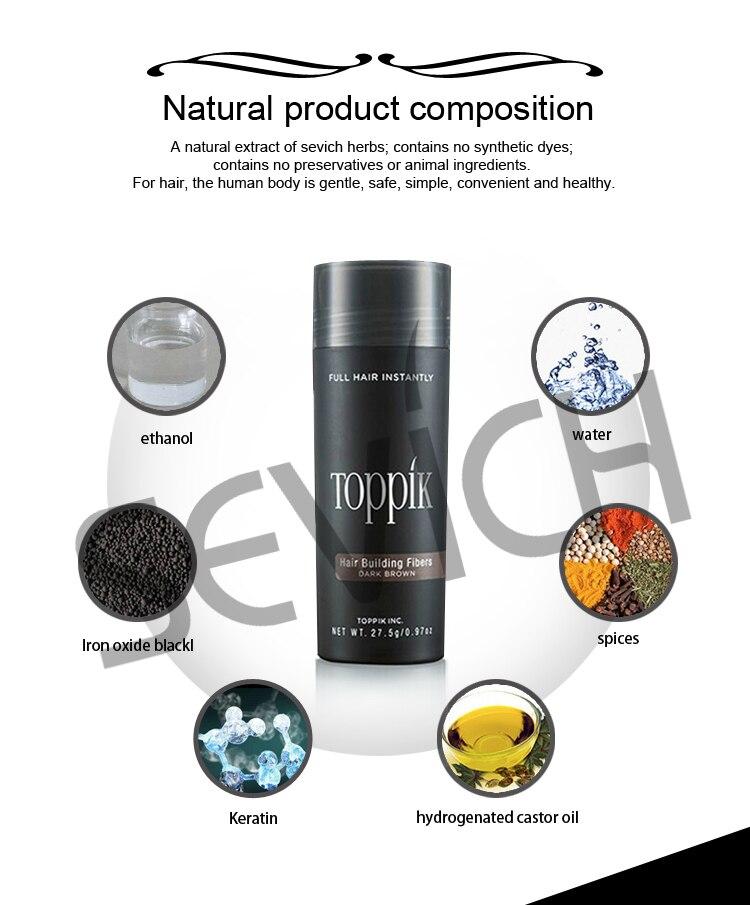 27.5g Toppik Hair Fibers Spray Keratin Powder Styling Regrowth Refill Spray Hair Thickening Fiber Hair Applicator 10colors