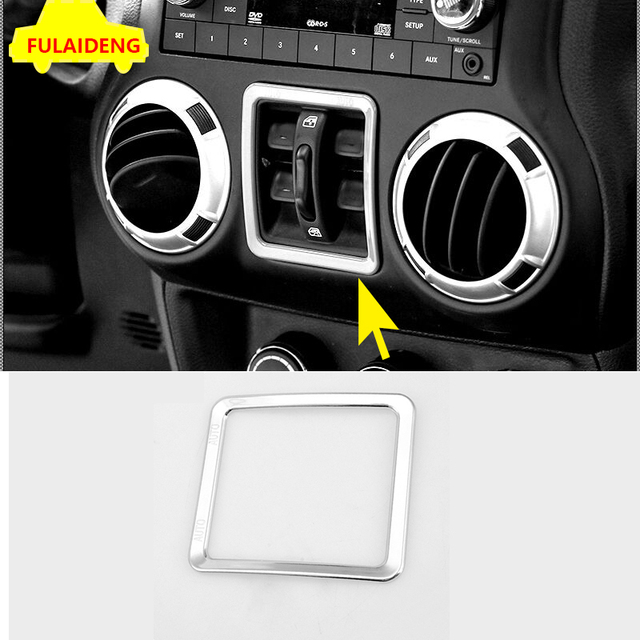 1pcs for jeep wrangler rubicon 2007 2015 abs chrome window switch 2015 Jeep Wrangler Airbags 1pcs for jeep wrangler rubicon 2007 2015 abs chrome window switch button cover trim car