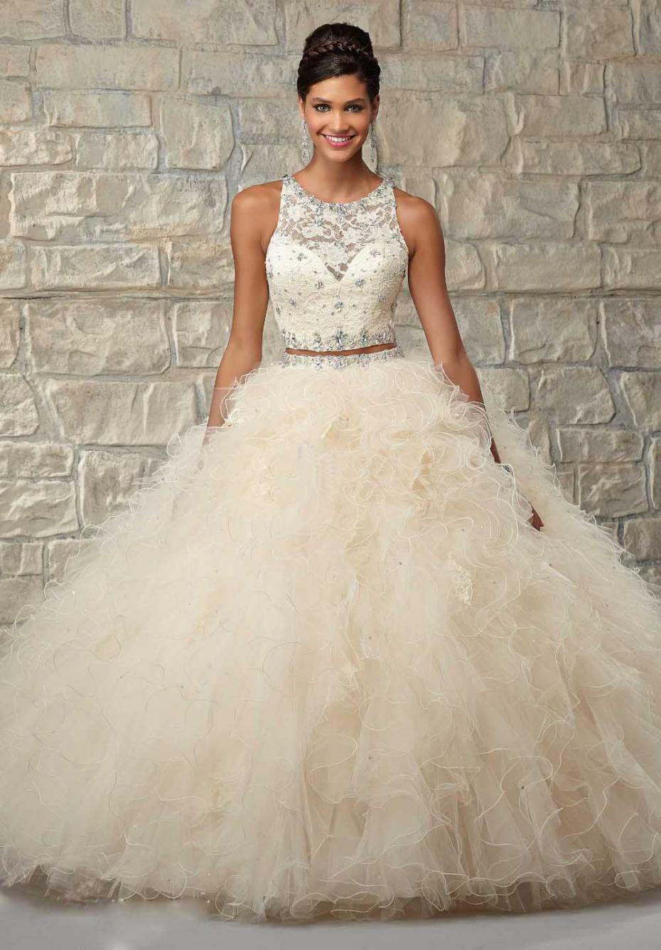 Popular White Scoop Beade Sweet 16 Dresses-Buy Cheap White Scoop ...