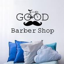 YOYOYU Wall Decal Barber Shop Vinyl Stickers Man Beauty Salon Hairdressing Art Decor Removable Haircut Home DIY SY644