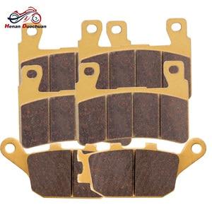 Motorcycle Front Rear Disk Brake Pads For Honda CB 400 1300 CBR 600 900 VT-R 1000 VTR 1000 #b(China)
