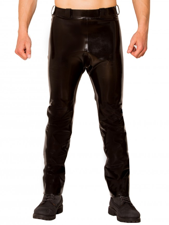 0.6MM Thickness Latex Bottoms Black Simple Latex Jeans