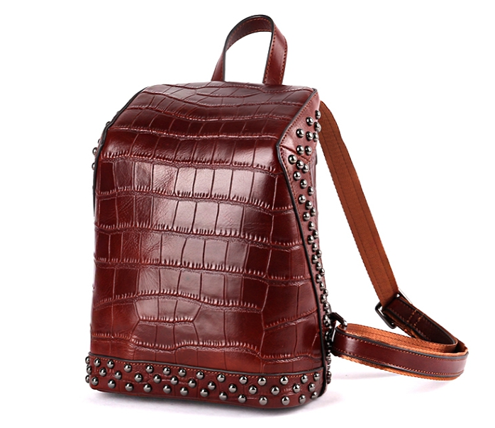 Madonno Brand Women Fashion Design Leather Backpack Crocodile Pattern Embossing Cowhide Large Capacity Backpack TBG018Madonno Brand Women Fashion Design Leather Backpack Crocodile Pattern Embossing Cowhide Large Capacity Backpack TBG018