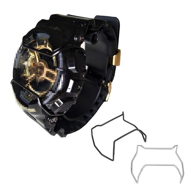0654eef2a5b Preto Prata Relógio de Aço Inoxidável Fio Guardas Protetores adesivos Para  GD120 GA110 GShock Relógio