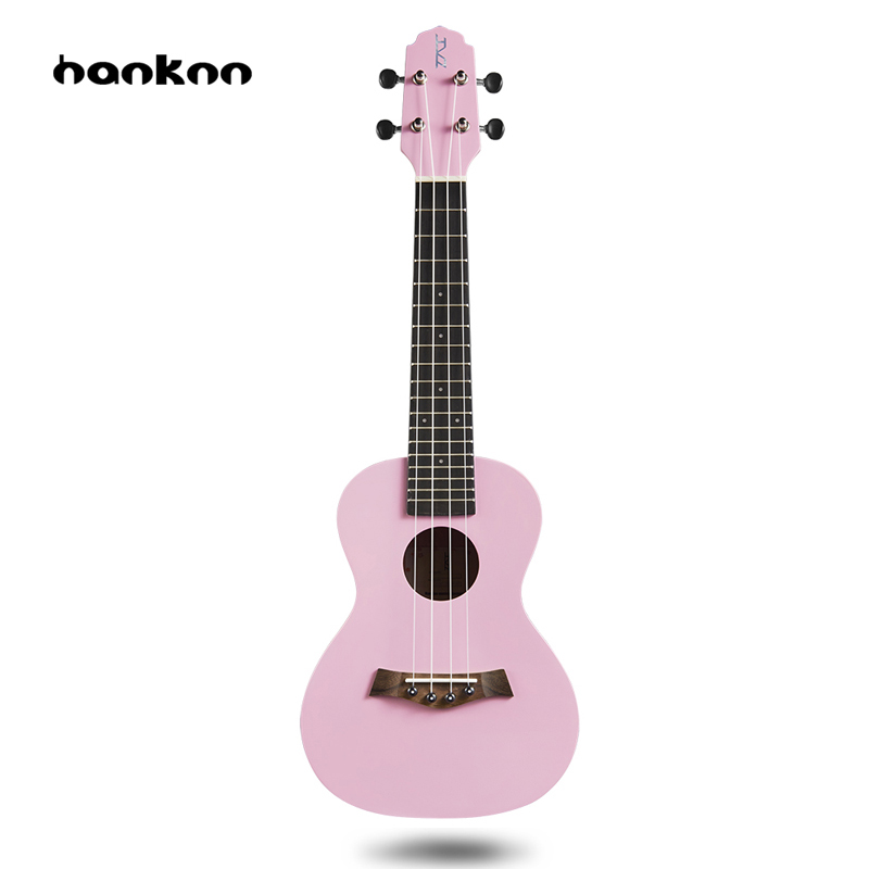 Hanknn 21 23 inch Ukulele Soprano Concert Hawaii Acoustic Guitar Ukelele 4 Strings Musical Instrument Bag Case Instrument Parts soprano concert tenor ukulele 21 23 26 inch hawaiian mini guitar 4 strings ukelele guitarra handcraft wood mahogany musical uke