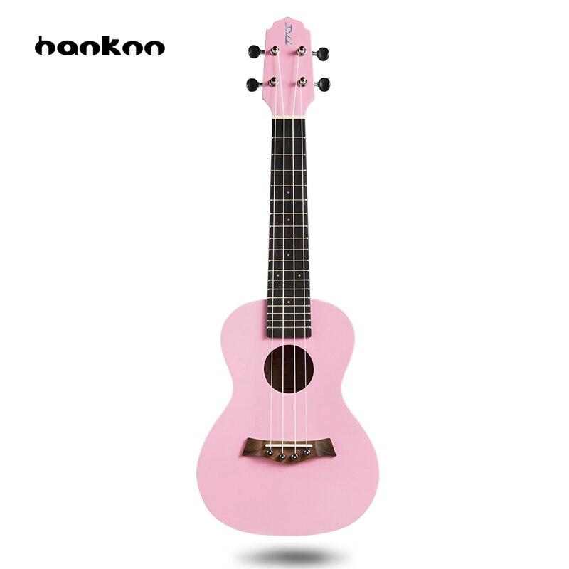 Hanknn 21 23 inch Ukulele Soprano Concert Hawaii Acoustic Guitar Ukelele 4 Strings Musical Instrument Bag Case Instrument Parts