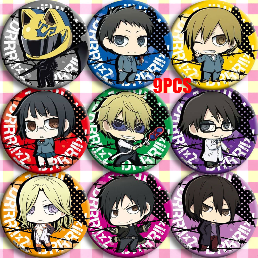 Japan Anime Durarara!! DRRR Ryugamine Mikado Cosplay Party Bedge Cartoon Collect Bag Badge For Backpack Button Brooch Pin Gifts