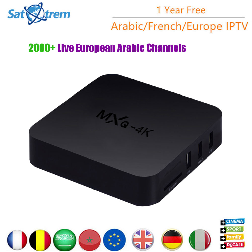 IPTV Box With 6 Month / 1 Year Subscription Europe French Italia Brazil Channels Android 7.1 MXQ 4K TV Box Arabic IPTV Top Box x92 android iptv box s912 set top box 700 live arabic iptv europe french iptv subscription 1 year iptv account code