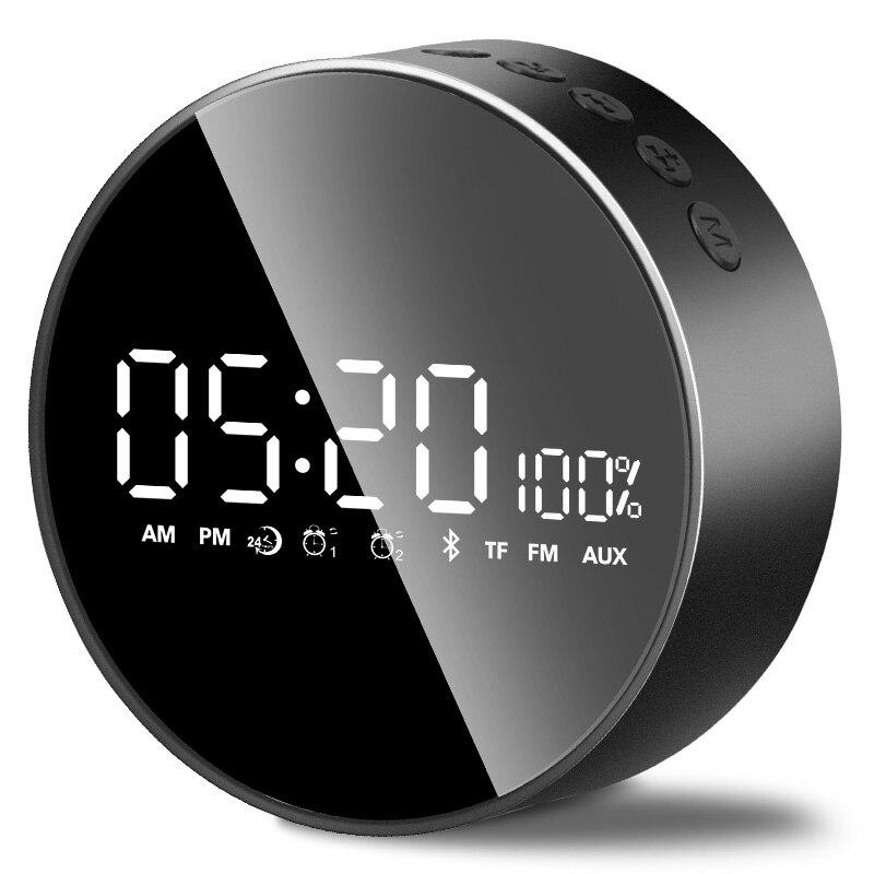 Haut-parleurs Bluetooth basse lourde ménage mini réveil téléphone petite acoustique son qualité est claire et stable ordinateur de bureau