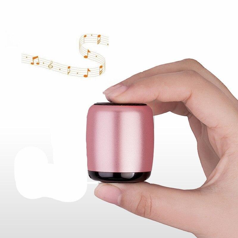 Лидер продаж Мини Металл <font><b>Bluetooth</b></font> Динамик открытый Портативный Динамик со звуком Системы сильный бас стерео аудио плеер