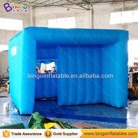 Бесплатная доставка синий цвет надувной куб рекламы палатка индивидуальные дома типа 3x3x2 метров взорвать палатка игрушка палатка