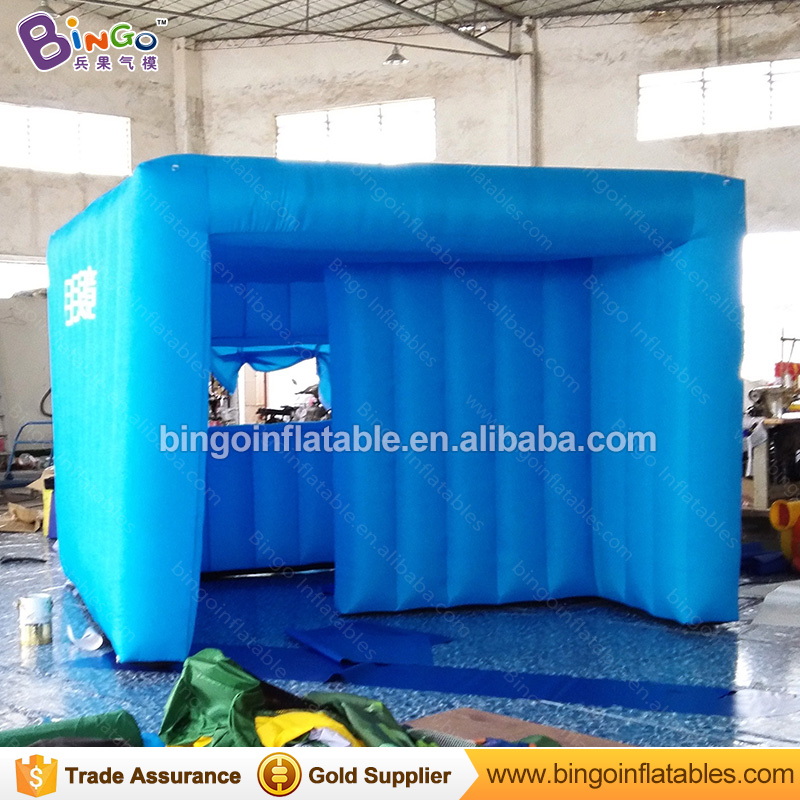 Free shipping blue color inflatable advertising cube tent customized house type 3X3X2 Meters blow up tent toy tent inflatable cartoon customized advertising giant christmas inflatable santa claus for christmas outdoor decoration