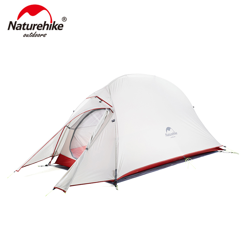 Naturehike CloudUp Series Ultralight Hiking Tent 20D/210T Fabric  For 1 Person With Mat Warm Tent NH18T010-T