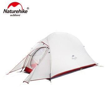 Naturehike Cloudup Series ผ้ากันเปื้อน Ultralight เต็นท์ 20D/210 T ผ้าสำหรับ 1 คนที่มี Warm เต็นท์ NH18T010-T