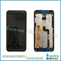 Для HTC Desire 601 619d Зара ЖК-дисплей с сенсорным экраном дигитайзер и каркасные комплекты, черный или Серебристая, Test ok