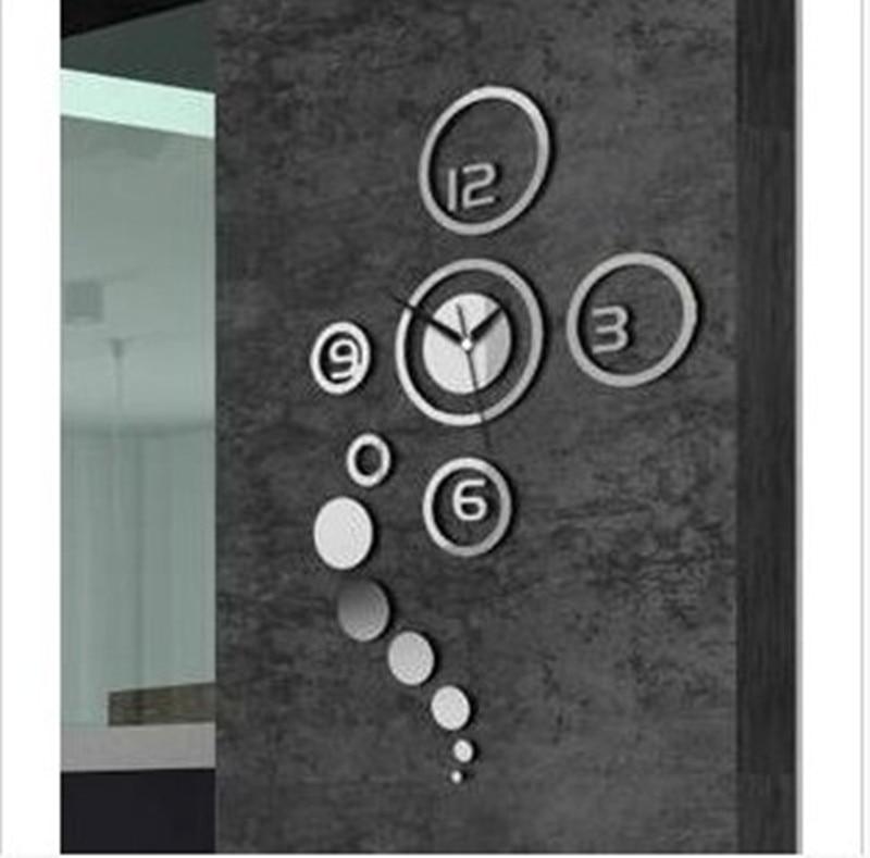 Fashion creative Home Furnishing clock clock Living room mirror creative personality simple clock Acrylic wall clock Wall sticke
