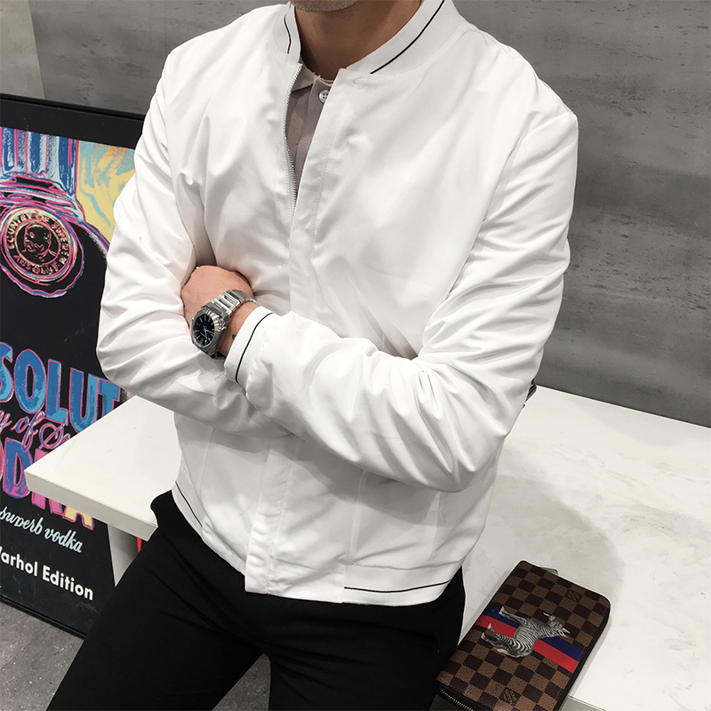 028e4b6df 2019 Korea New Men Simple Spring Jacket And Coats Mens Daily Casual ...