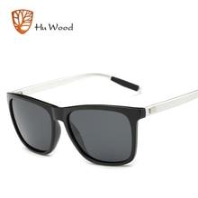 HU MADERA Espejo gafas de Sol Polarizadas de Los Hombres Cuadrados Gafas de Deporte Gafas de Sol de Las Mujeres UV gafas de sol Azul Reflectante Recubrimiento GR6733