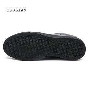 Image 3 - Classic High Tops sneakers mannen schoenen PU leer mode mannelijke enkellaarsjes grijs zwart flats effen kleur schoenen Mans schoeisel