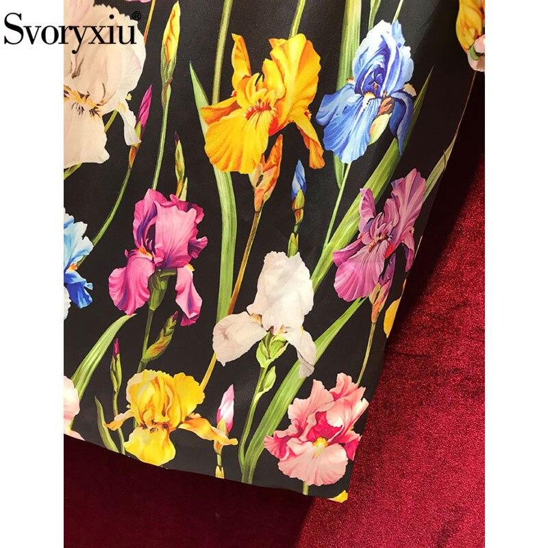 3132469afd0d Svoryxiu Runway Elegant Autumn Dress Women's Vintage Lantern Sleeve Colours Tulip  Floral Print Black Slim Party Dress Vestidos ~ Perfect Deal June 2019