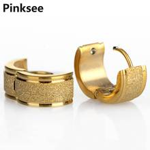Hot 2pcs New Fashion Punk Stainless Steel Crystal Earrings Hoop Huggie Ear Studs[JE01008-JE01010]