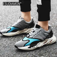 ESUDIAMON NEW Men Casual Shoes Spring Autumn Retro Fashion Style Color Footwear High Quality Lightweight Laces